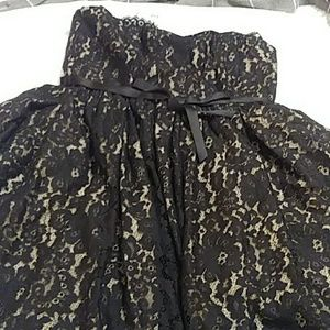 NWT Strapless Black Lace Cocktail/Evening Dress
